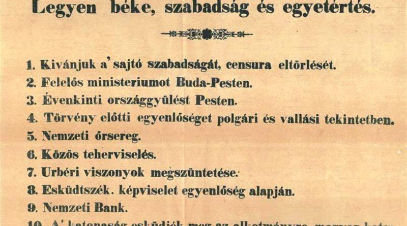 Zverejnenie marcových zákonov