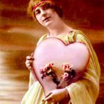 Valentínske srdiečko z roku 1910