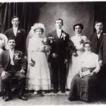 Svadobná fotografia z roku 1910