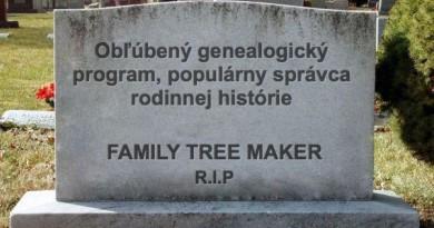 Koniec Family Tree Maker