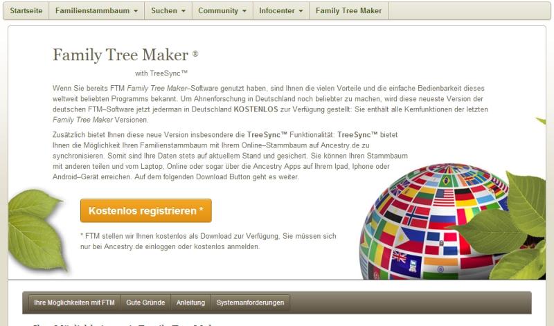 Family Tree Maker zadarmo