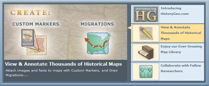 Základné možnosti služby, ktoré pokytuje historické mapy