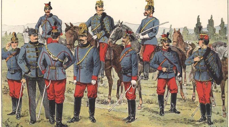 Jazda rakúsko-uhorskej armády koncom 19. storočia.